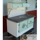 Kitchen Queen Wood Cook Stove 380 Green and Cream